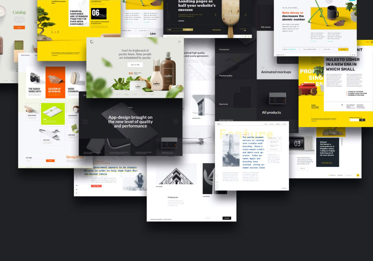STAND OUTWe constantly design, develop and test fresh-looking and user friendly interfaces for landing page products and brands.